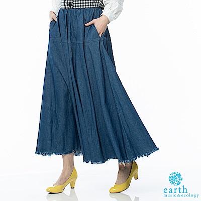 earth music 牛仔口袋長裙