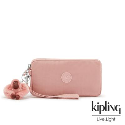 Kipling 玫瑰石英粉手拿包-LOWIE