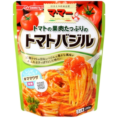 日清食品 番茄羅勒風味義大利麵醬(260g)