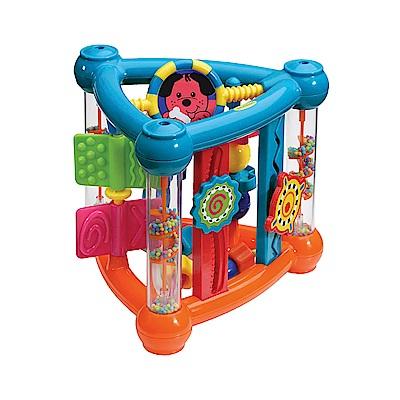 B kids 嬰幼兒多功能感官認知三角翻轉玩具