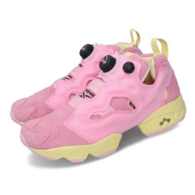 Reebok 聯名鞋 InstaPump OG BT21 襪套 女鞋 休閒 COOKY 絨毛 限量 球鞋 粉 黃 DV9877