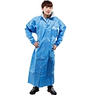 JUMP新二代前開素色雨衣+通用鞋套-藍色