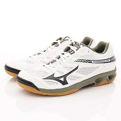 Mizuno美津濃-止滑排球鞋款-177025白黑綠(男段)