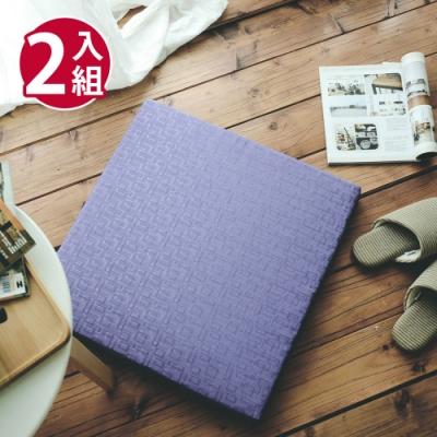 絲薇諾 MIT太空記憶坐墊-方格紫/2入組(54×56cm)