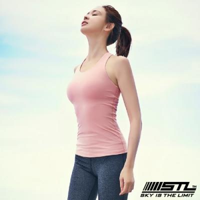STL yoga bra T SS Balance Slim 韓國瑜珈 運動機能訓練背心上衣(含胸墊)平衡珊瑚