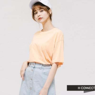 H:CONNECT 韓國品牌 女裝 -亮色系棉質T-shirt - 橘