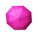 【台灣嚴選】RA32042PI小清新-輕巧環保三折 手開晴雨傘桃紅色(傘面外徑114CM)