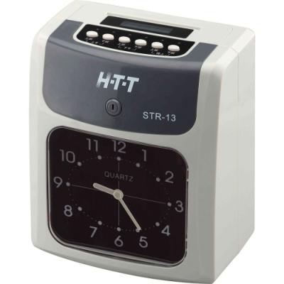 HTT 六欄位雙色打卡鐘 STR-13