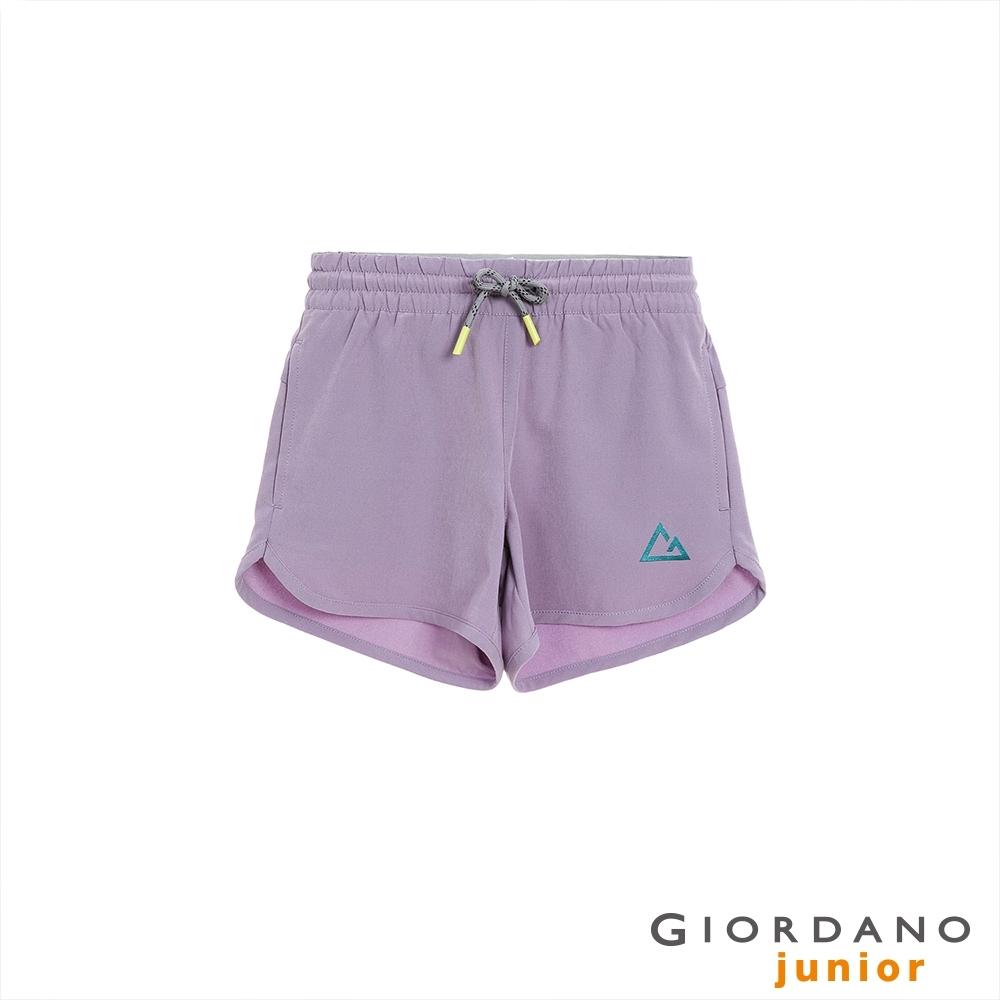 GIORDANO 童裝3M彈力抽繩短褲 - 32 暗灰紫
