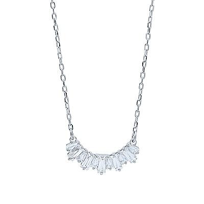 SWAROVSKI 施華洛世奇 SUNSHINE璀璨弧形水晶銀色項鍊