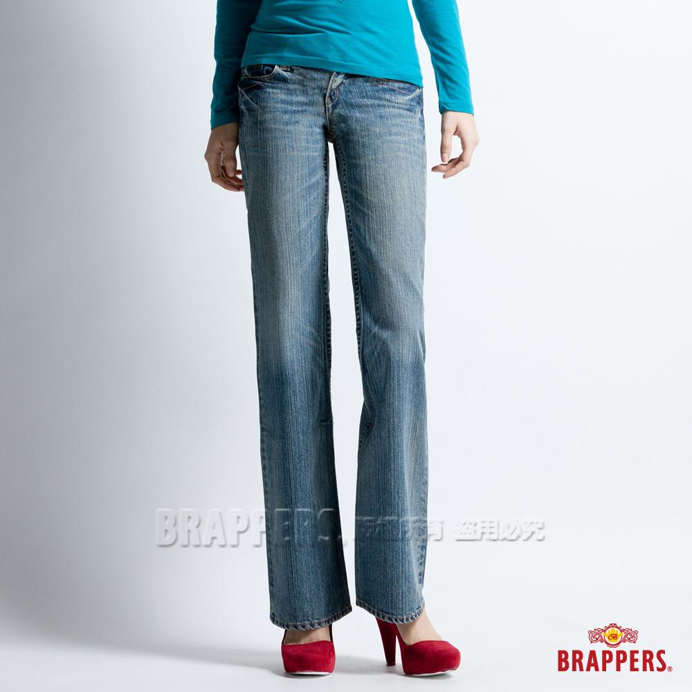 BRAPPERS 女款 女個性系列-中低腰小靴型褲-淡藍