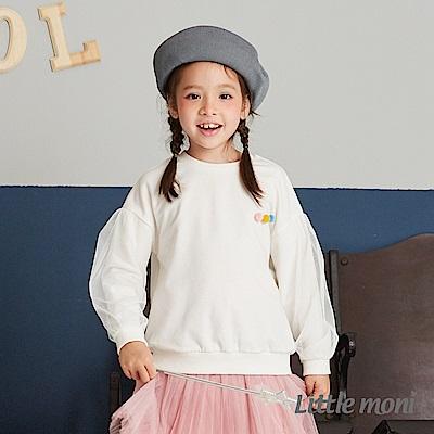 Little moni 圓領毛球造型上衣(共2色)