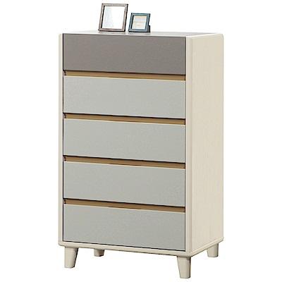 文創集 帕亞利時尚2尺雙色五斗櫃/收納櫃-60.5x32x106.5cm-免組