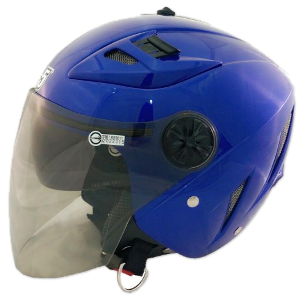 GP-5 時尚安全帽 繽紛 風洞導流設計│抗UV鏡片│半罩安全帽│全可拆│內藏墨鏡 (消光藍)