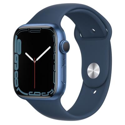 Apple Watch Series 7 (GPS) 45mm 藍色鋁金屬錶殼+深邃藍色運動型錶帶(MKN83TA/A)
