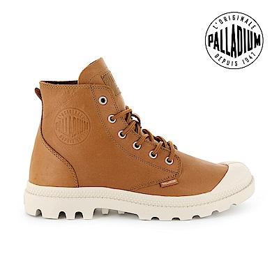 Palladium Pampa HI LTH UL經典皮革靴-女-咖啡