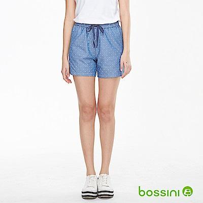 bossini女裝-印花輕便短褲02天藍