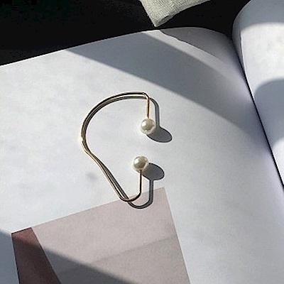 梨花HaNA 韓國冷淡風格單只珍珠耳掛耳扣