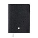 MONTBLANC 萬寶龍 真皮筆記本–口袋型 橫線/黑色