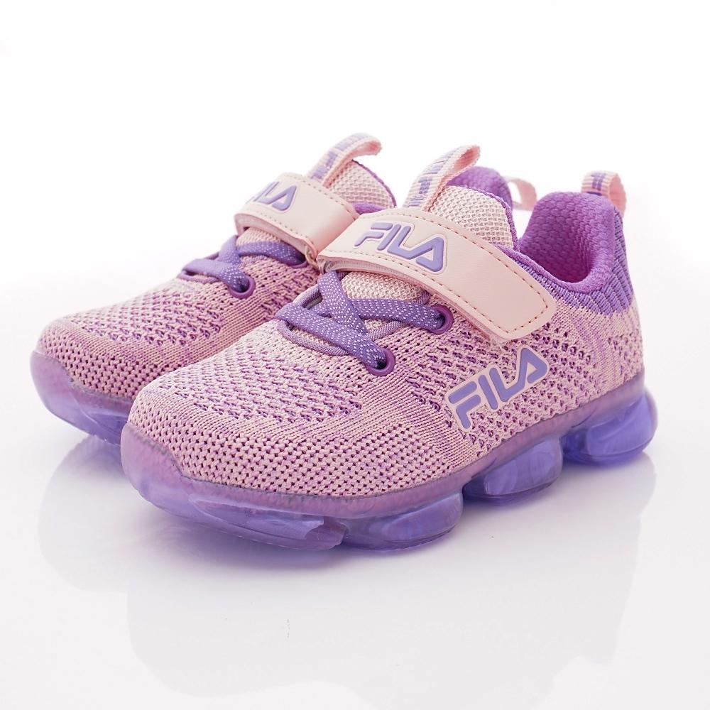 FILA頂級童鞋 果凍電燈運動鞋款 EI51T-595紫粉(中小童段)