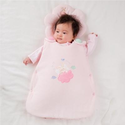 【妖精之森】純棉鋪棉睡袋防踢被-小兔