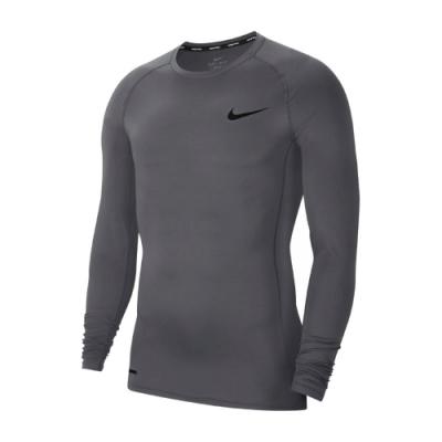 Nike T恤 Pro Men Top 運動 男款 緊身 內搭 快乾排汗 透氣 健身 重訓 灰 黑 BV5589084
