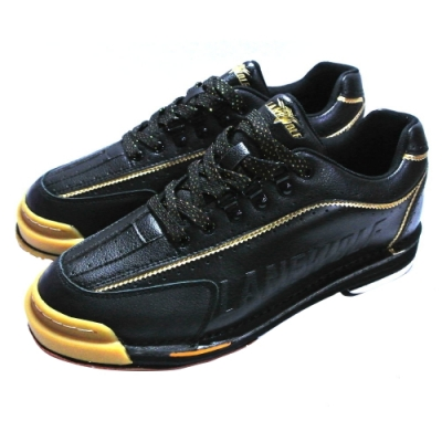 【DJ80嚴選】LANEWOLF雙腳換底頂級保齡球鞋T1款黑(全配附4底+4跟+鞋套)