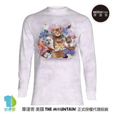 摩達客 預購 美國The Mountain 花園貓咪哦耶 純棉長袖T恤