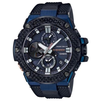 G-SHOCK 強悍碳纖維設計藍芽太陽能運動腕錶(GST-B100XB-2A)/58.1m