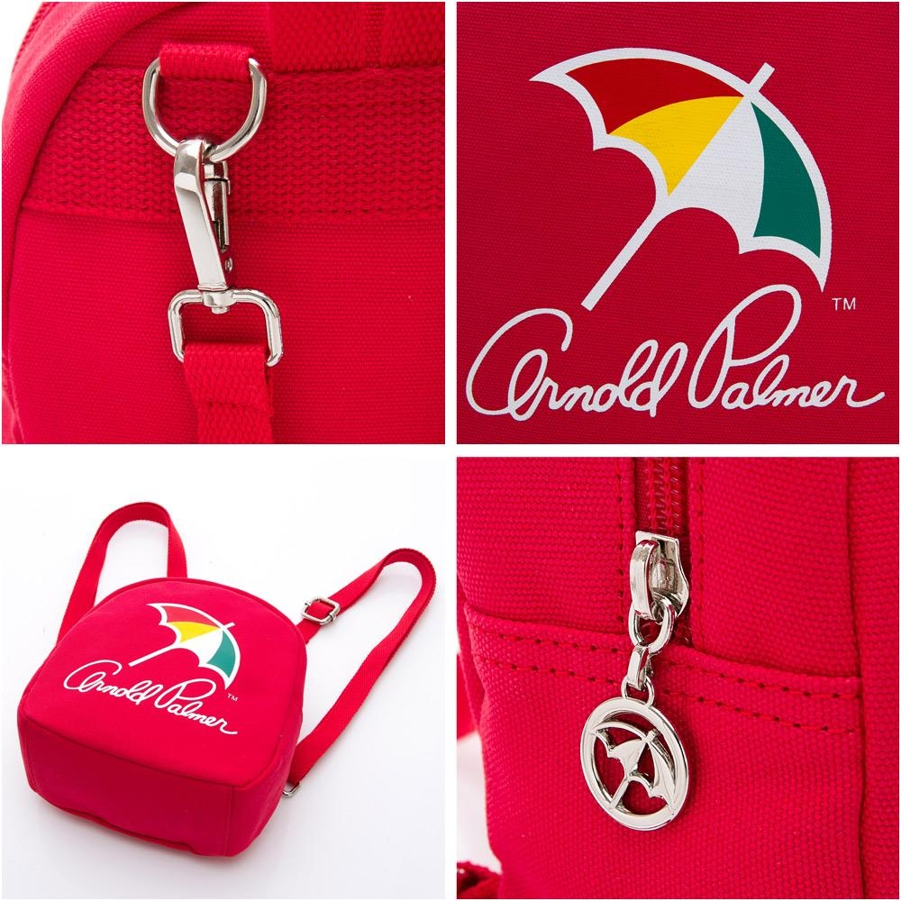 Arnold Palmer- 迷你後背包 玩色時尚系列-紅色