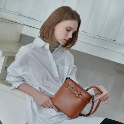 【Elegance】RUBAN 2WAY迷你水桶包-棕色