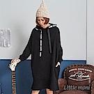 Little moni 成人織帶連帽洋裝(共2色)