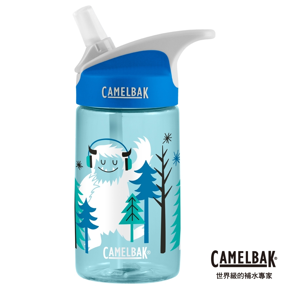 【美國 CamelBak】400ml eddy兒童吸管運動水瓶 嘻哈雪怪