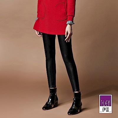 ILEY伊蕾 -10kg超顯瘦仿皮內搭褲(黑)