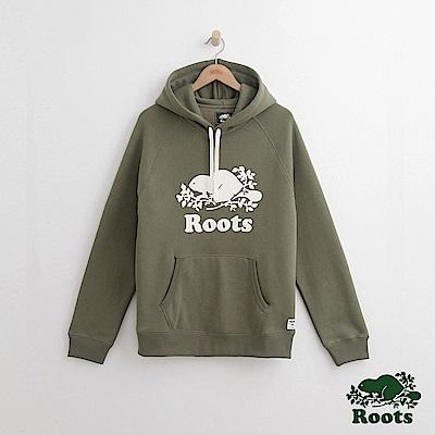Roots-男裝-原創連帽上衣-綠