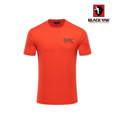 【BLACK YAK】男BAC logo吸排短袖上衣 [紅色]
