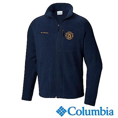 Columbia 哥倫比亞 男款-曼聯刷毛外套-深藍 UXE16450NY