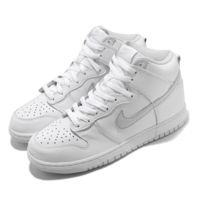 Nike 休閒鞋 Dunk High SP 運動 男鞋 經典款 皮革 質感 簡約 球鞋 穿搭 白 灰 CZ8149101