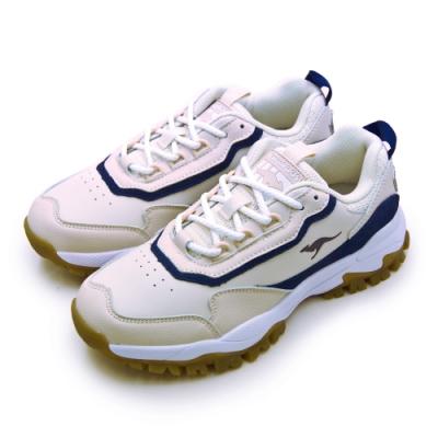 KangaROOS 經典撞色復古越野慢跑鞋 藍標老爹鞋 淺卡藍 91181