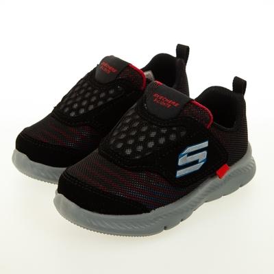 SKECHERS 男嬰童系列 COMFY FLEX 2.0 燈鞋 - 401510NBKRD
