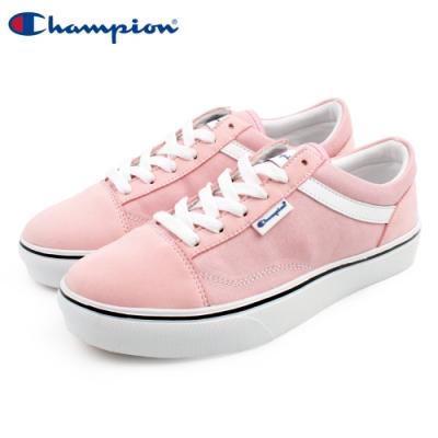 【Champion】U-C Plain 休閒帆布鞋 女鞋-粉(WFLS-9016-50)