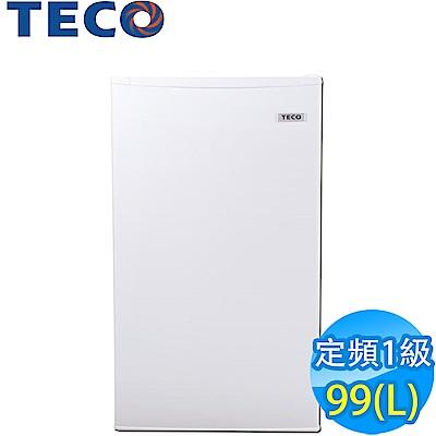 [時時樂限定] TECO東元 99L 1級定頻單門電冰箱 R1091W