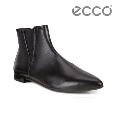 ECCO SHAPE POINTY 經典英式切爾西平底短靴 女 黑