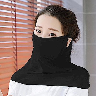 幸福揚邑 360度防曬涼感抗UV口罩面罩2入組-黑色