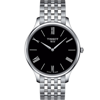 TISSOT T-TRADITION超薄紳士石英錶(T0634091105800)40mm