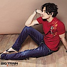 BigTrain 虎濤彈性小直筒褲-男-深藍