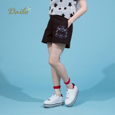 【Dailo】小精靈怪獸舒適-短褲(綠色)