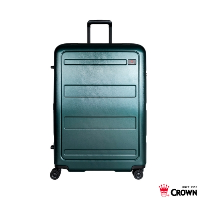 CROWN 皇冠 29吋拉鍊箱 雙層防盜拉鍊 墨綠