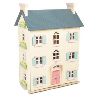 英國 Le Toy Van 夢幻娃娃屋系列-蘇格蘭櫻花官邸娃娃屋(精品裝潢不含家具)(H150)