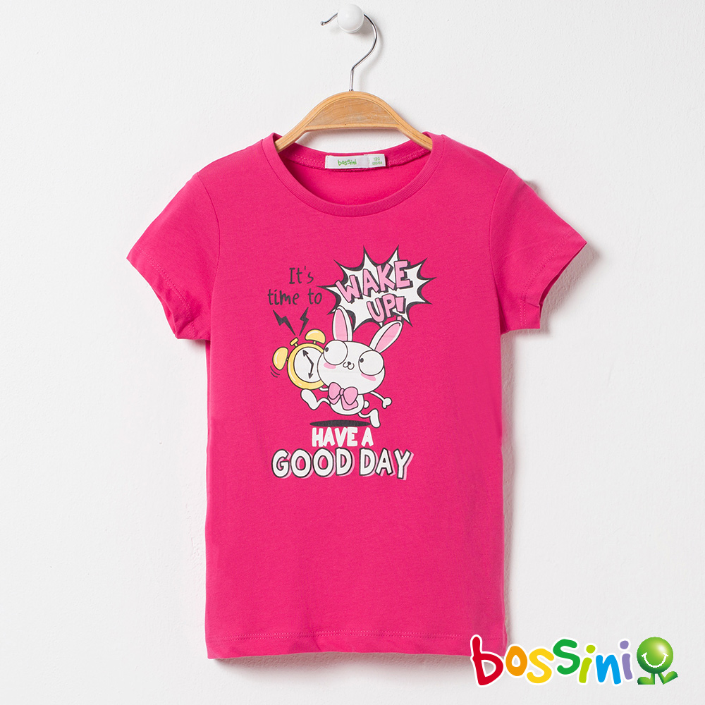 bossini女童-印花短袖T恤06桃紅